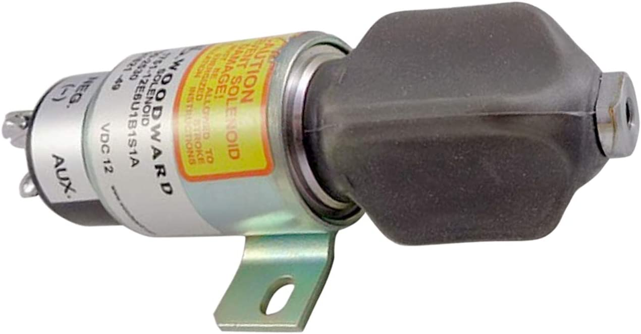 1751-12E6U1B1S1A 1700-2530 12V New Diesel Turn Off Solenoid for Woodward 1700 Series