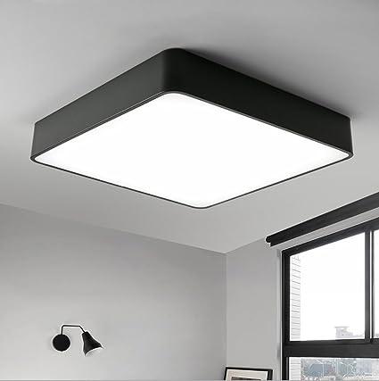 GFL Dormitorio LED Lámpara de Techo Lámpara Cuadrada Moderno ...