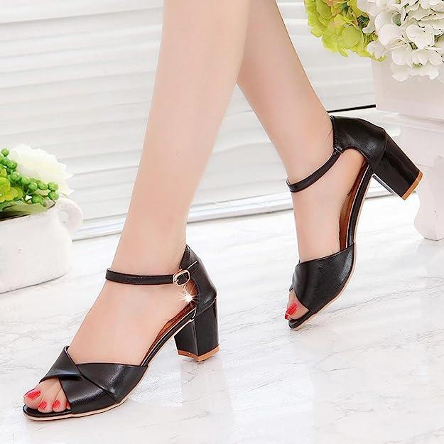 Amazoncom Ginelo Fashion High Heels Women Ankle Strap