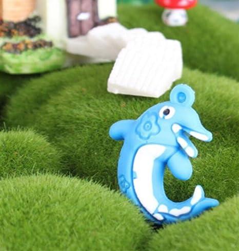 Acuario Flotante suspensión delfín Ornamento para la decoración del Tanque de Peces (Azul)