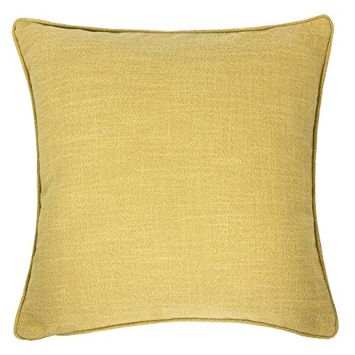 - Homey Cozy Linen Textured Throw Pillow Cover,Linen Solid Series Yellow Large Sofa Couch Decorative Pillow Case Western Home Decor 20x20, Cover Only