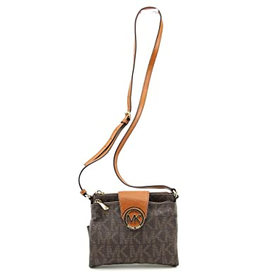 f8bffbed3abb38 Michael Kors Fulton Brown Large Crossbody Bag [Apparel]: Amazon.co.uk: Shoes  & Bags