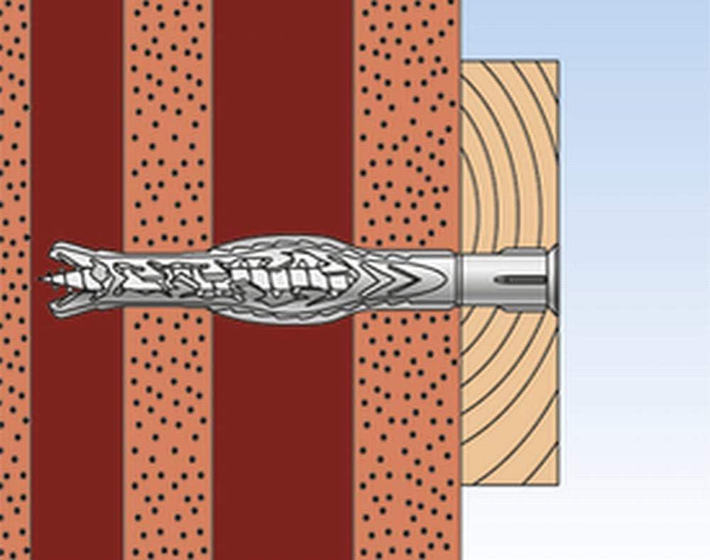 Dachunterkonstruktionen UVM fischer Langschaftd/übel SXRL 8x60 Fus A4-Multiple Verankerungstiefen zum Befestigen von Fassaden 540135 in Voll-und Lochbaustoffen-50 St/ück-Art-Nr Grau