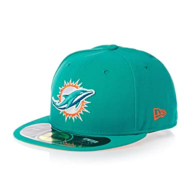 New Era 59fifty Nfl On Field Miami Dolphins Cap - Blue  Amazon.co.uk   Sports   Outdoors 68681f3e7