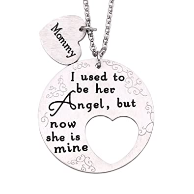 JT/_ A Piece of My Heart Is In Heaven Carving Heart Wing Pendant Necklace Cheap