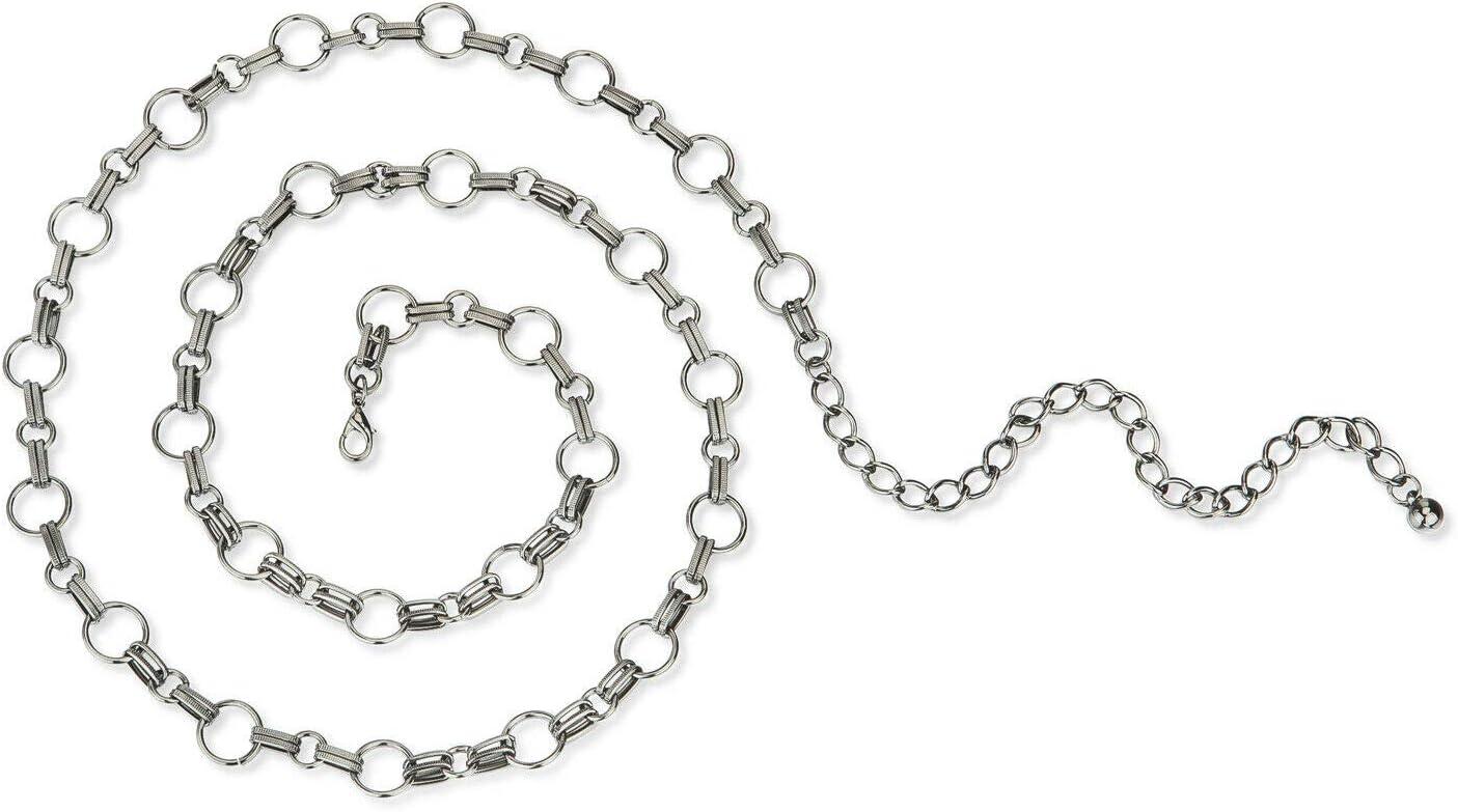 Metal Chain Decorative Trimming Round /& Oval Links Braid,Silver Rhodium,Gunmetal