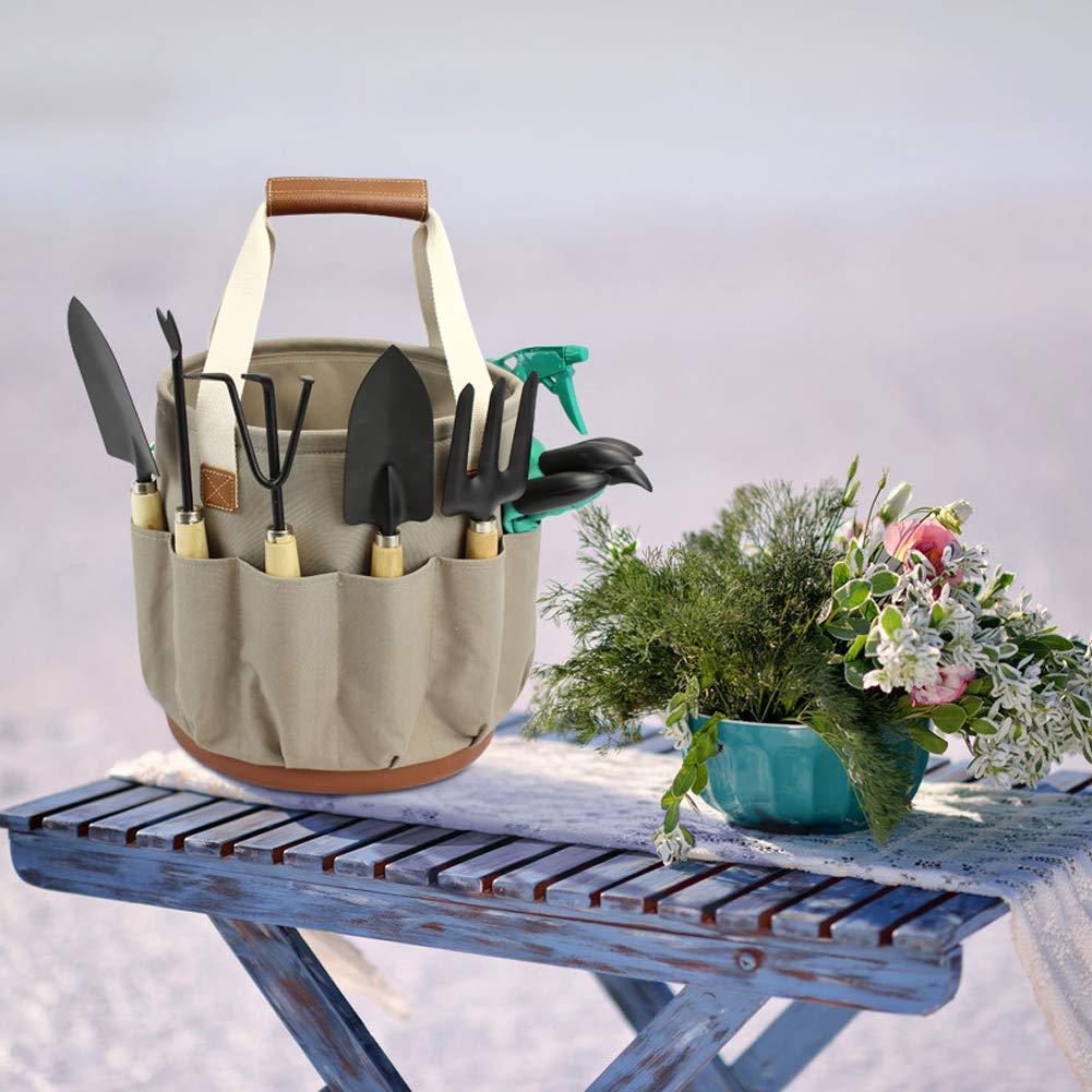 und Hochleistungs-Aufbewahrungseimer Gartenger/äte mit 9-teiligem Garten Gartengeschenke-Werkzeugset f/ür M/änner und Frauen Gartenger/äte-Set