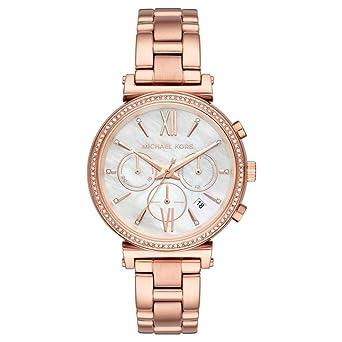 Michael Kors Reloj Cronógrafo para Mujer de Cuarzo con Correa en Acero Inoxidable MK6576: Amazon.es: Relojes