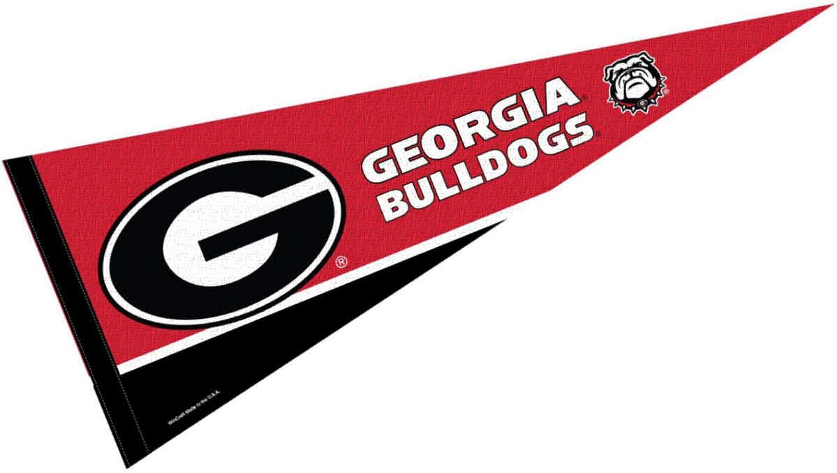 College Flags & Banners Co. Georgia Bulldogs Pennant Full Size Felt