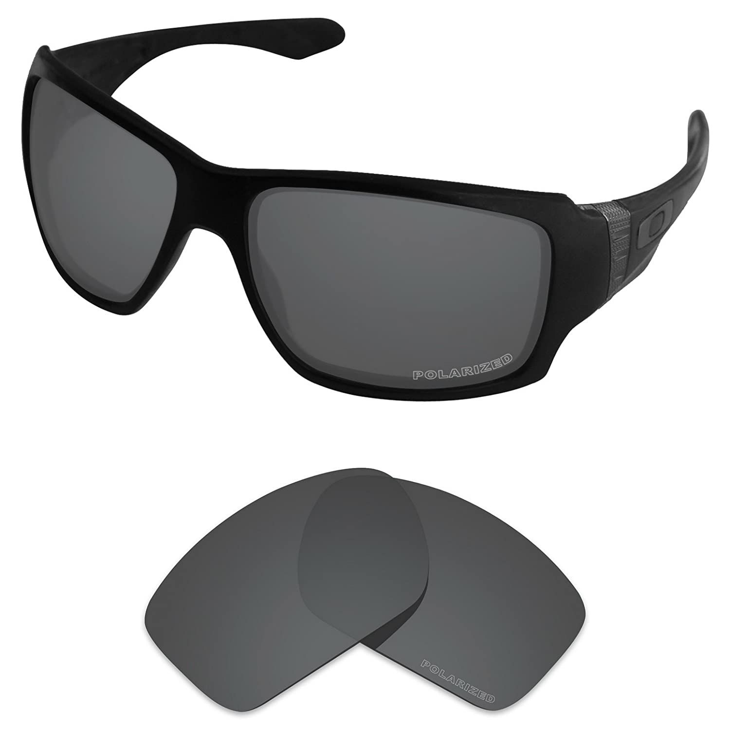 241ee08fad Amazon.com  Tintart Performance Lenses Compatible with Oakley Big Taco  Polarized Etched-Carbon Black  Clothing