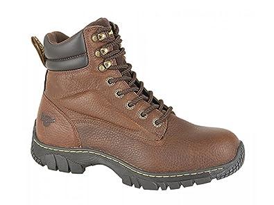344fe85ab70 Dr martens mens pURLIN sT pour peaux leather industrial safety boots en teck  - Marron -
