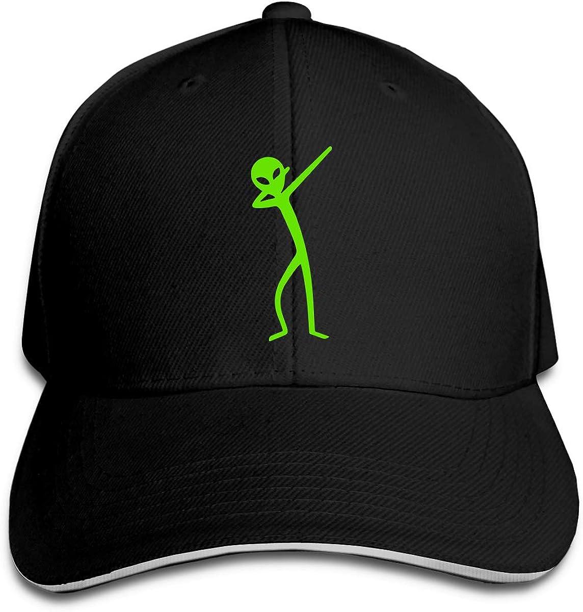 Dabbing Alien Outdoor Snapback Sandwich Cap Adjustable Baseball Hat Hip Hop Hat