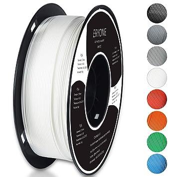 Filamento PLA 1.75mm, Eryone PLA Filamento de PLA para impresión 3D, 1kg 1 Spool,Blanco: Amazon.es: Juguetes y juegos