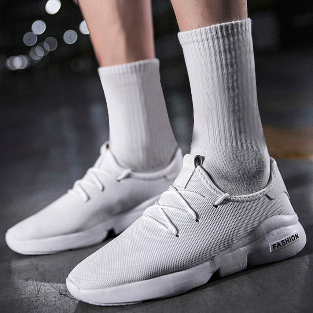 Lightweight Mesh Breathable Sneakers Men Women Solid Lace Up Running Walking Shoes Mosunx Athletic Couple Sport Shoes