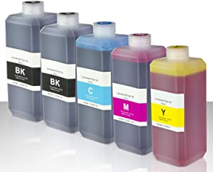 OfficeSmartInk Refill Ink with Refill Kit Compatible with Most Inkjet Printers (2X Black, 1x Cyan, 1x Magenta, 1x Yellow 500 ml Bottle 16.9 oz)