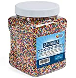 A Great Surprise Rainbow Nonpareils Sprinkles - Non Pareil Sprinkles in Resealable Container, 1.8 LB Bulk Candy