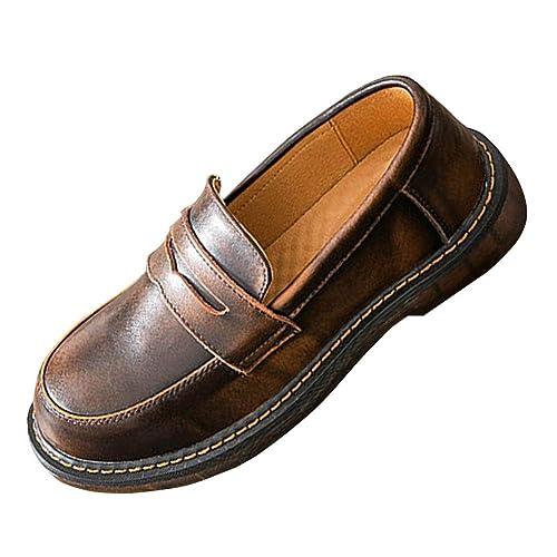 SXSHUN Mocasines para Niñas Zapatos para Uniforme Colegio sin Cordones: Amazon.es: Zapatos y complementos