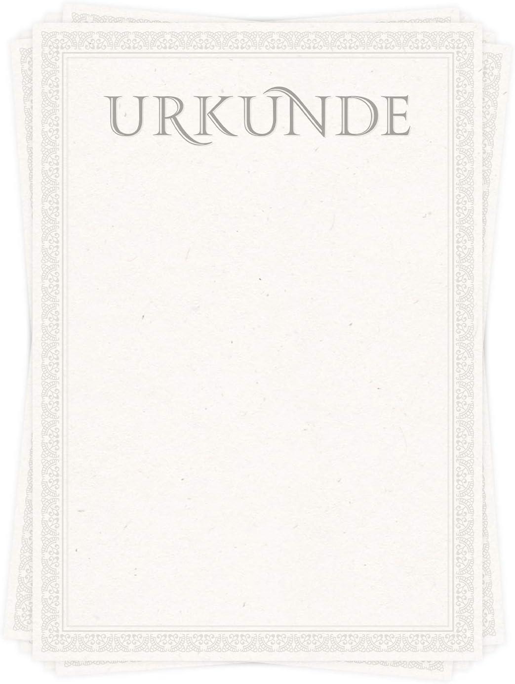 Altes Papier Set zu 10 St/ück Antik Look von ARTFAVES Urkunde//Zertifikat Stil Urkundenpapier DIN A4