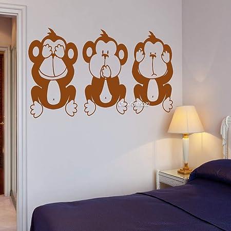guijiumai Three Wise Monkeys Vinilo Adhesivos de Pared Yoga ...
