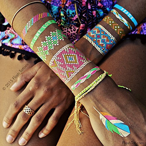 Flash Tattoos Authentic Metallic Temporary product image