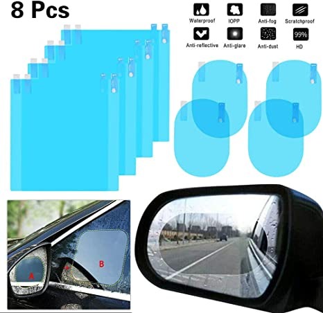 Rainproof Car Rearview Mirror Stickers Film Nano Safety Drive Universal Auto Goods Anti Fog Window Clear Protection