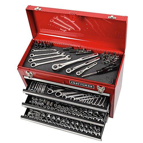 Craftsman 348 tool set w craftsman 3 drawer tool box BRAND NEW