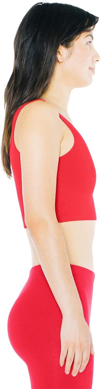 American Apparel Womens Cotton Spandex Sleeveless Crop Tank Shirt