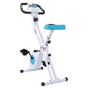 Xspec Indoor Foldable Stationary Exercise Cycling Bike