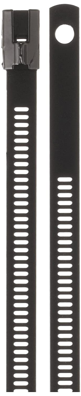 Image of BAND-IT AE6129 316 Stainless Steel Multi Lok Cable Tie, 0.27' Width, 9' Length, 2.2' Maximum Diameter, Bag of 100 Cable Ties