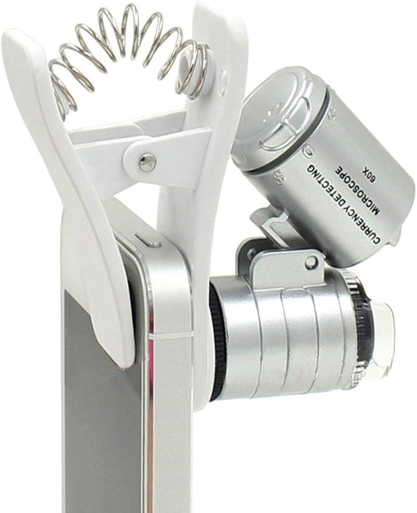1pcs universal 3LEDs Clip Teléfono Móvil Lupa de microscopio micro ...
