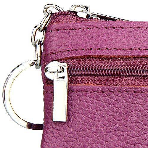 De marrón Diseño Corto Pu Cartera La Mujer Púrpura La De Bolsillo Embrague Retro La De Titular Del Wiwsi Bolso De De Cremallera De Tarjeta BCIAAq
