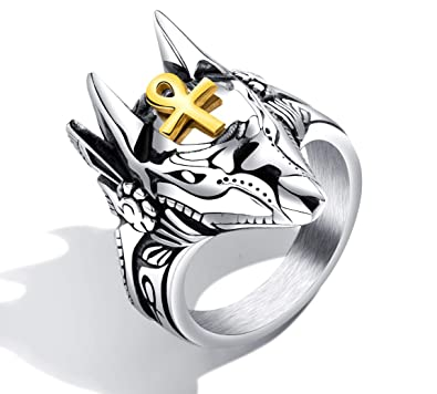 Jewelry & Accessories Popular Brand Stylish Gothic Mens Punk Retro Titanium Steel Heart Ring Brings Good Luck Jewelry