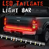 Megulla 60 Inch 2-Row LED Truck Tailgate Light Bar Strip Red/White Reverse Stop