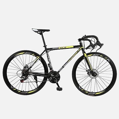 ZTYD Camino de la Bicicleta, 26 Pulgadas de 21 velocidades Bicicletas, Doble Disco de Freno, Marco
