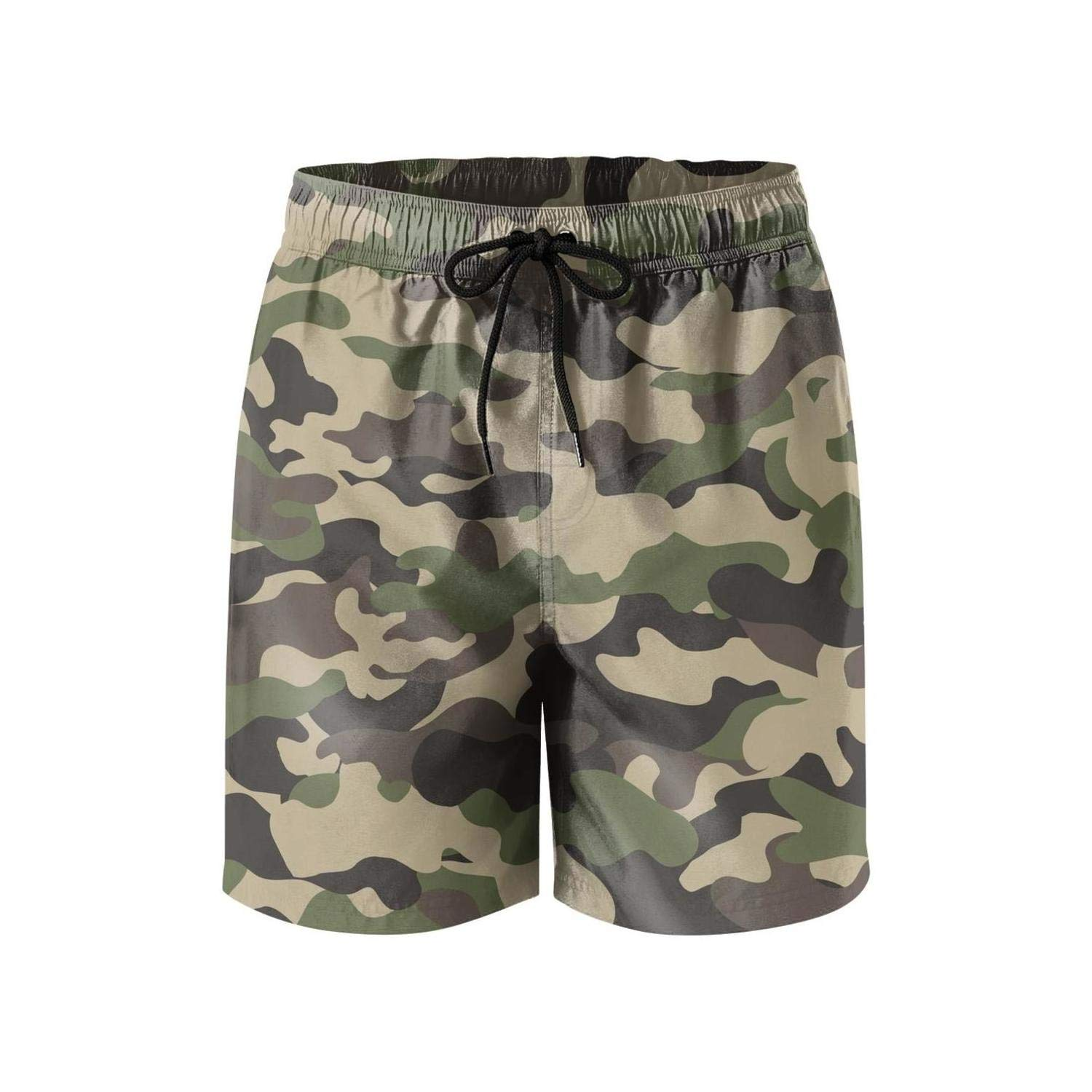 Feewearior Mens Beach Shorts Military Camouflage Swimming Trunks Quick Dry Pants Surfing