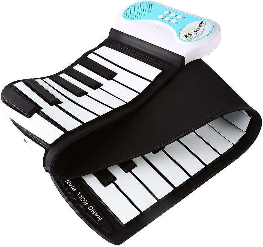 SCRT Teclado de Piano Plegable de 49 Teclas con función de ...