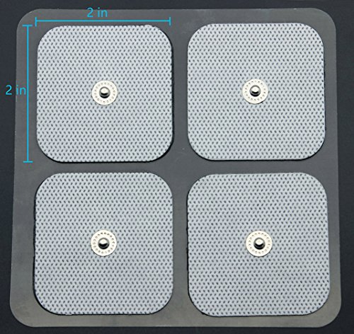 LotFancy-40PCS-Snap-Electrode-Pads-Reusable-Square-TENS-Unit-Replacement-Pads-with-Premium-Adhesive-Gel-for-EMS-Muscle-Stimulators-Comfortable-Soft-Foam-Backing-2-x-2-Inches