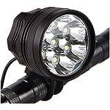LAFALInK Bike Lights, Waterproof Bicycle Headlight, Super Bright 10000 lumens LED Bike Headlights,with 9000mAh Rechargeable B