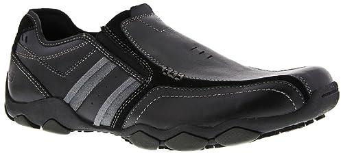 Skechers - Mocasines de Piel para hombre negro negro: Amazon.es: Zapatos y complementos
