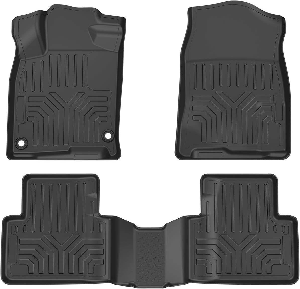 OsoTorero Floor Mats for 2016-2019 Honda Civic Sedan Hatchback Type R Full Set Liners TPE All-Weather Guard Includes 1st and 2nd Row: Front Rear