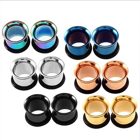 CHESUN 6 Pairs Gauges Kit Tapers Plugs O-Ring Plug Ear
