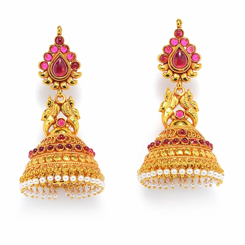 Buy Alankruthi Royal Tradional Antique Golden Stone Handmade ...