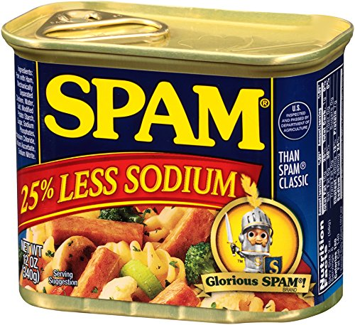 SPAM 25% Less Sodium, 12-Ounce Cans (Pack of 6) - Buy ...