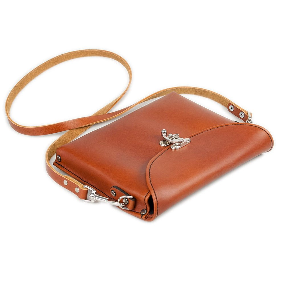 Occidental Leather 1158 Premium Whiskey Colored Leather iPad Carry Case with Shoulder Strap and Nickel Plated Clasp by Occidental Leather