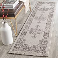 Safavieh Carmel Collection CAR272B Vintage Oriental Beige and Brown Runner (2 x 8)