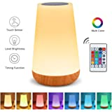 Table Lamp Touch Night Light - Portable Sensor Remote Control Bedside Lamps with Quick Rechargeable USB Dimmable Warm…