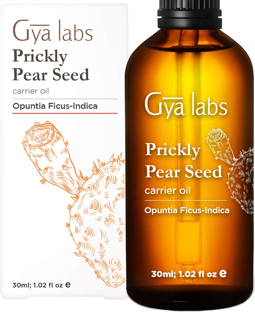 Gya Labs Organic Prickly Pear Seed Oil - For Smooth, Young Skin & Healthy Hair - 100% Pure, Organic, Cold Pressed Prickly Pear Oil Moisturizer For Dry Skin, Even Skin Tone & Repair Damaged Hair (30ml)