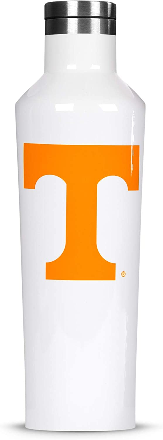 Corkcicle  Canteen - 16oz NCAA Triple Insulated Stainless Steel Water Bottle, University of Tennessee Volunteers, Big Logo