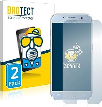 BROTECT Protector Pantalla Anti-Reflejos Compatible con Samsung Galaxy A5 2017 (2 Unidades) Pelicula Mate Anti-Huellas: Amazon.es: Electrónica