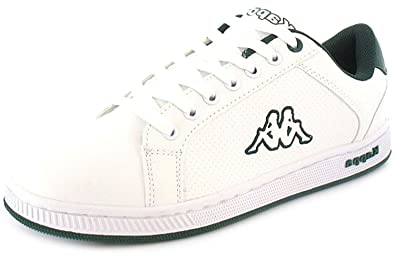 e18c0aa0c6 Mens/Gents White/Green Kappa Lace Up Retro Tennis Shoes/Trainers - White